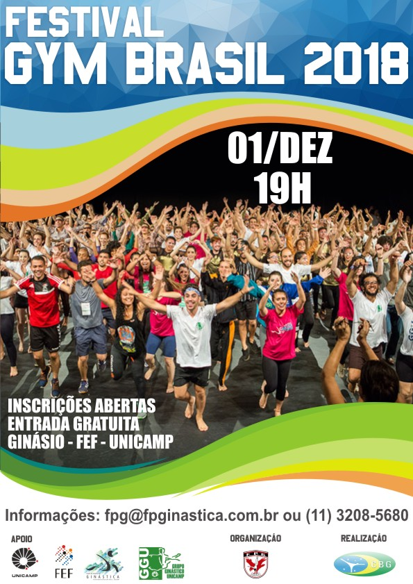 Cartaz do Festival GYM BRASIL 2018